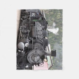 Steam Train engine: Colorado, USA Fleece Blanket