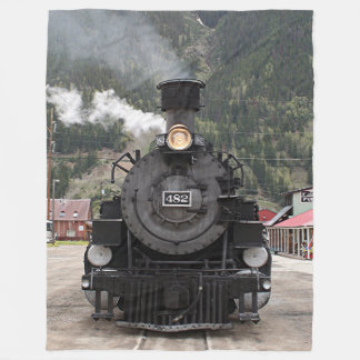 Steam train engine, Silverton, Colorado, USA 4 Fleece Blanket