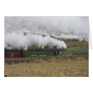 Steam Train England Card