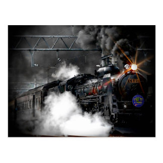 Steam Train Locomotive Postcard