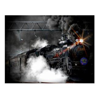 Steam Train Locomotive Postcard
