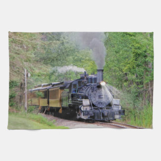 Steam Train Locomotive Railway Enthusiast Art Tea Towel