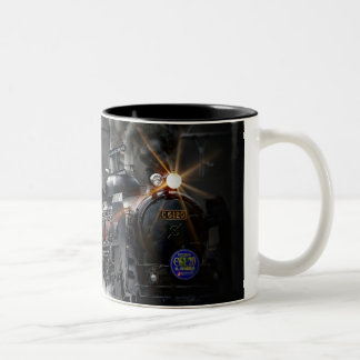 Steam Train Locomotive Transportation Night Two-Tone Coffee Mug