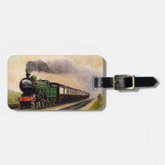 Steam Train Luggage Tag. Bag Tag