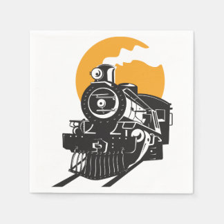 Steam Train Paper Napkins
