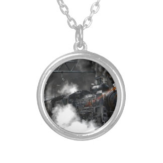 Steam Train Silver Plated Necklace