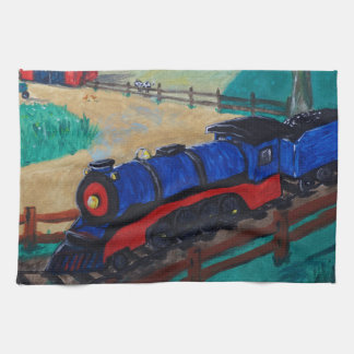 Steam Train Tea Towel