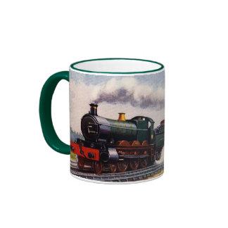 Steam Train - The Fishguard Boat Express Ringer Mug
