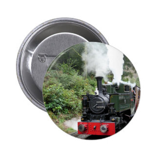 STEAM TRAINS 6 CM ROUND BADGE