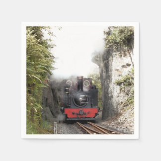 STEAM TRAINS DISPOSABLE SERVIETTES
