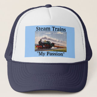 "Steam Trains, ""My Passion"" Trucker Hat"