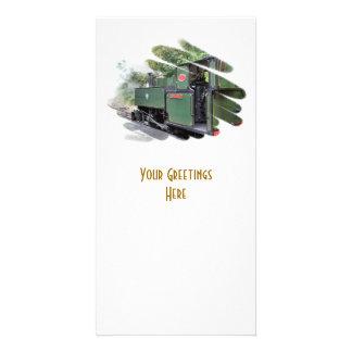 STEAM TRAINS PHOTO GREETING CARD