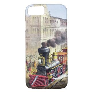 Steam Trains, Station, Railroad Vintage Cases