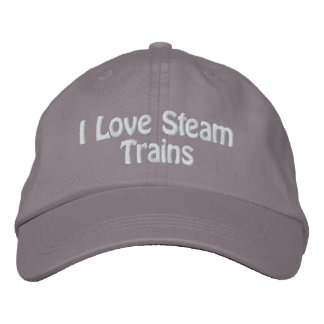 STEAM TRAINS UK EMBROIDERED HAT