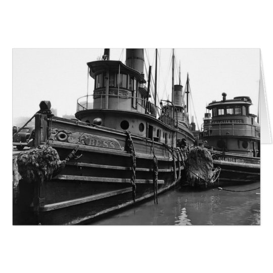 Steam Tug Bess Card