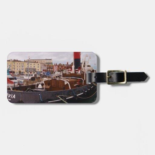 Steam Tug Cervia Travel Bag Tag