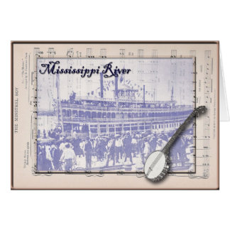 Steamboat and Music Card