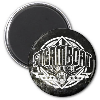 Steamboat Grunge Circle Magnet Refrigerator Magnet