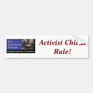 Steamboat Institue--Activist Chicks Rule! Bumper Sticker