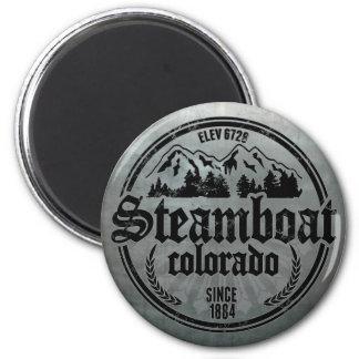 Steamboat Old Circle Metal Logo Magnet
