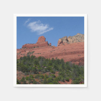 Steamboat Rock in Sedona Arizona Photography Disposable Serviette