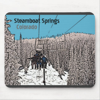 Steamboat Springs Colorado day on lift mousepad