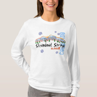 Steamboat Springs Colorado elevation ladies hoodie