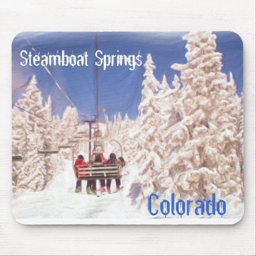 Steamboat Springs Colorado mousepad