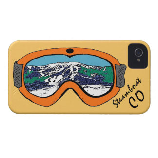 Steamboat Springs Colorado orange goggle iphone 4 Case-Mate iPhone 4 Case