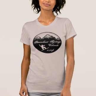 Steamboat Springs Colorado purple snowboard tee