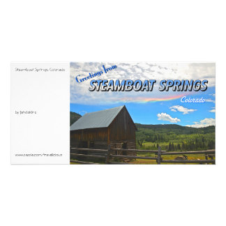 Steamboat Springs, Colorado - Vintage Style Photo Card Template