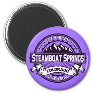 Steamboat Springs Purple Magnet