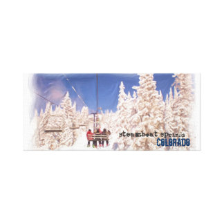 Steamboat Springs ski lift canvas wrap Canvas Prints
