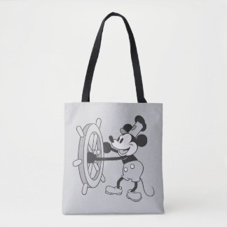 Steamboat Willie Mickey Mouse Tote Bag