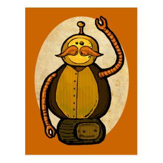Steambot Antique Robot Postcard