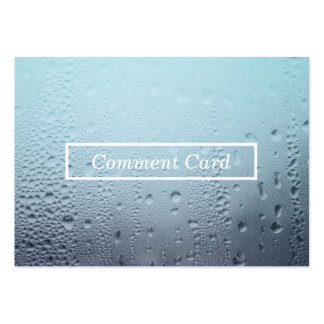 steamed glass comment card business card template