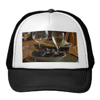 Steamed Muscles At The Dinner Table Hats