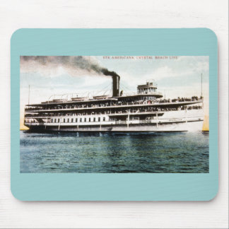 Steamer Americana Crystal Beach Line Mouse Pads