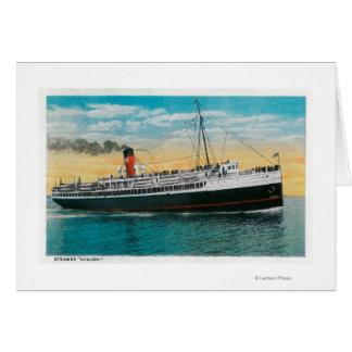 "Steamer ""Avalon"" at Santa Catalina Island Card"
