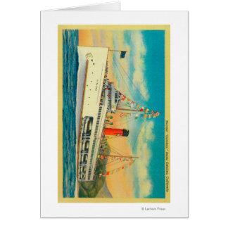 """Steamer """"Catalina"""" at Santa Catalina Island Card"""