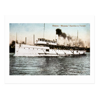 Steamer Macassa, Hamilton to Toronto Postcard