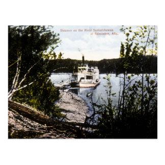 Steamer on River Saskatchewan, Edmonton, Alta. Postcard