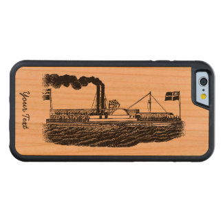 Steamer/Paddle Boat Travel in Vintage Times Design Cherry iPhone 6 Bumper Case