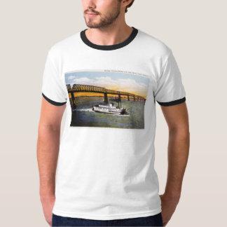 Steamer Passing Bridge, Ohio River, Cairo,Illinois T-Shirt