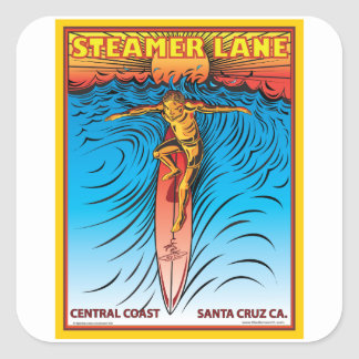 STEAMERLANE SURF SANTA CRUZ SQUARE STICKER