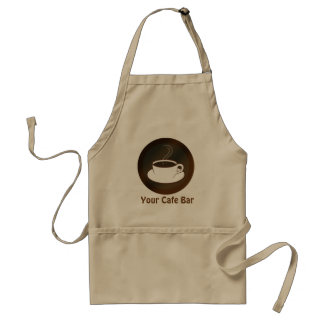 Steaming Coffee Cup Cafe Staff Coffee Shop Standard Apron