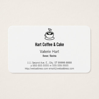 Steaming Coffee Cup with Heart Design Business Card