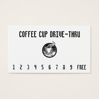 Steaming Cup in Hand Punchcard Business Card