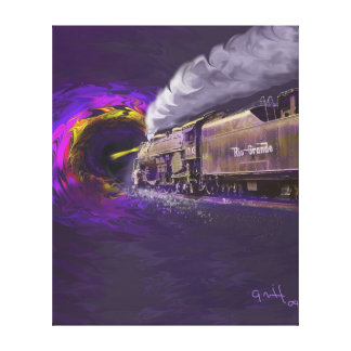 Steaming Into the Black Hole of History Stretched Canvas Prints