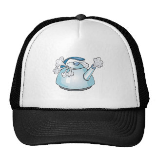 steaming tea pot kettle cap